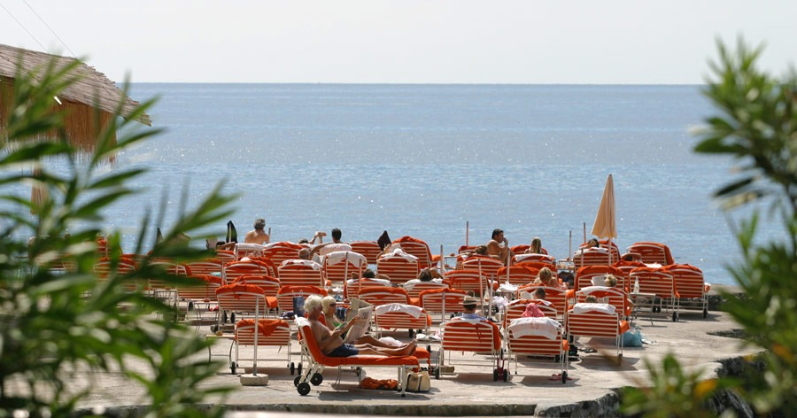 beach club at Il San Pietro di Positano