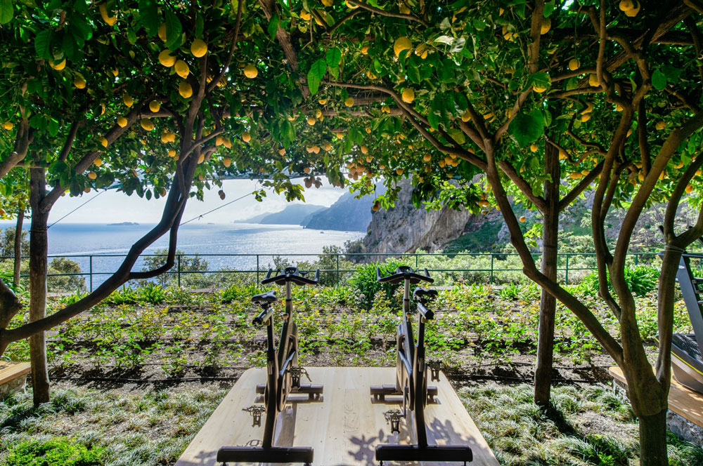 fitness area at il San Pietro Positano