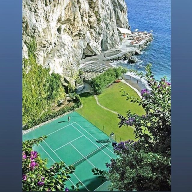 Built in 1975, our regulation-sized seaside tennis court is frequently voted among the top five most beautiful courts in the world. Have you played here yet? If not, make it one for your bucketlist.#ilsanpietrodipositano #relaischateaux #mostbeautifultenniscourt #memorableexperiences #positano #amalficoast